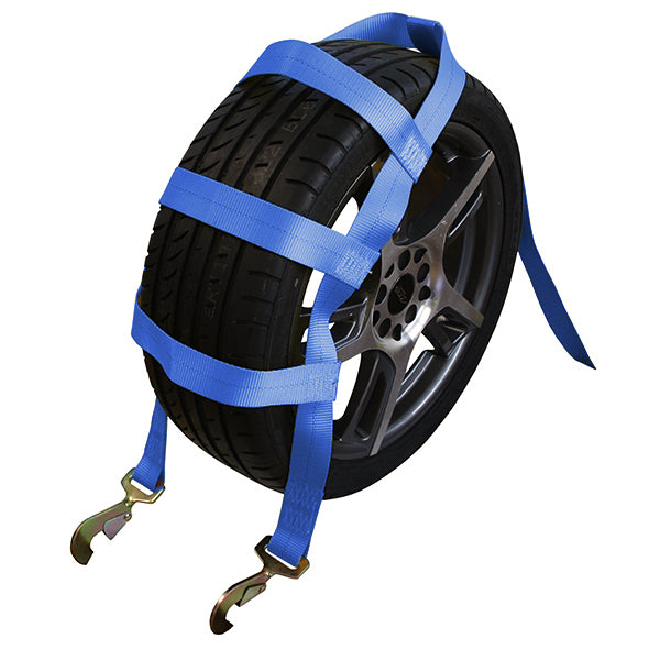 Tire Holder with Ratchet and Twist Snap Hooks