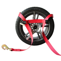 Side Tire Holder with Ratchet and Twist Snap Hook