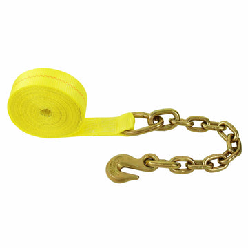 2 Inch Winch Strap with 18 Inch Chain Hook