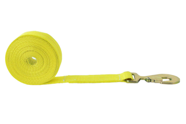 2 Inch Winch Strap with Flat Snap Hook