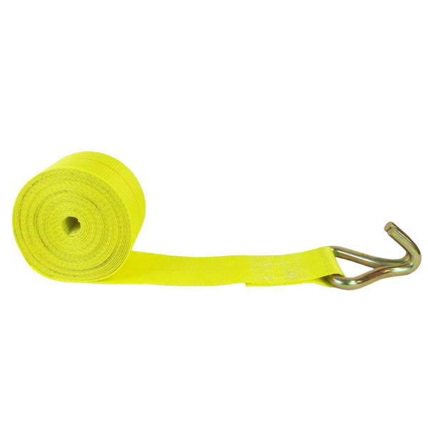 4 Inch Winch Strap with Twin J Hook