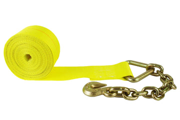 4 Inch Winch Strap with Chain Hook