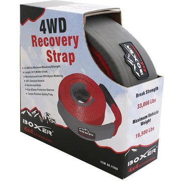 4 Inch Nylon Recovery Strap in Red
