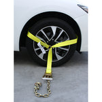 Side Tire Holder with Ratchet and Chain Hook