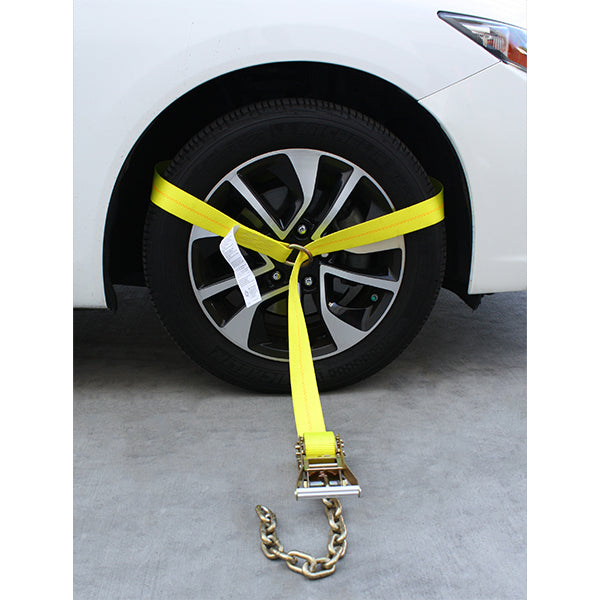 Side Tire Holder With Ratchet and Chain