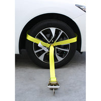 Side Tire Holder Ratchet with Snap Hook, D Ring, and Axle Strap