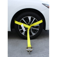 Side Tire Holder with Ratchet and Snap Hook