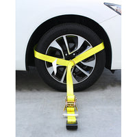 Side Tire Holder with Ratchet and Flat Hook