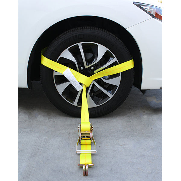 Side Tire Holder with Ratchet and Twin J Hook