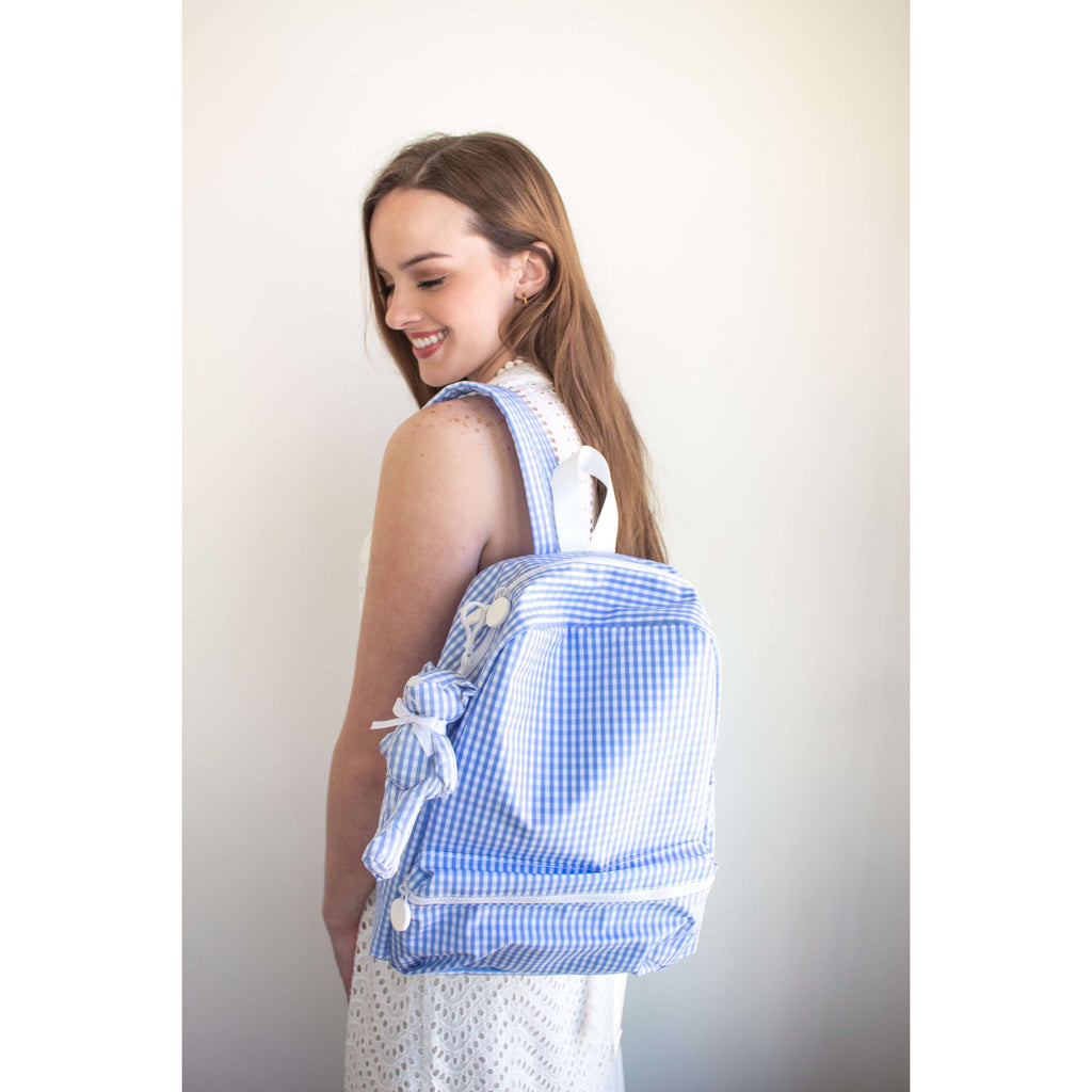 Backpacker Backpack in Blue Gingham