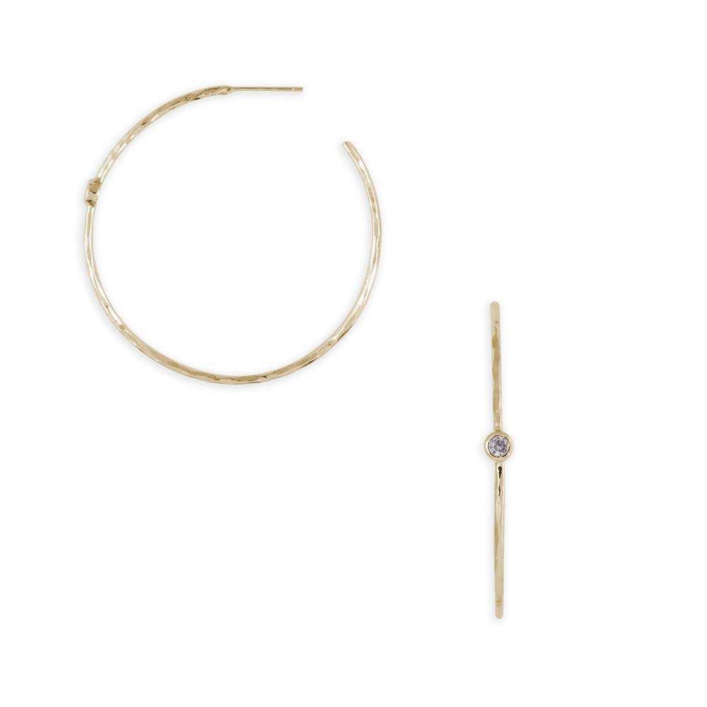 Dainty Dot Hoops in Gold
