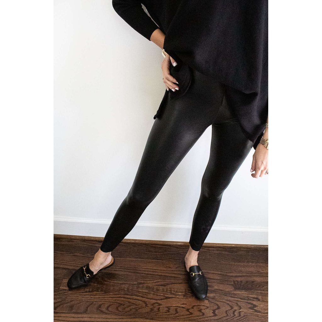 The Perfect Faux Leather Legging in Black