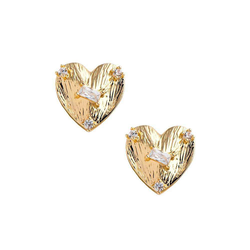 Mini Heart Stud in Gold