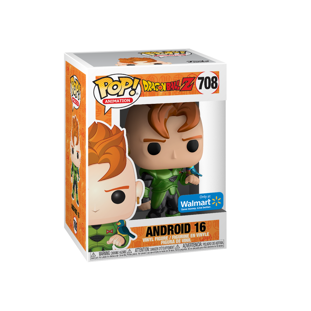 POP! Animation: 708 Dragon Ball Z, Android 16 (Metallic) (Walmart)