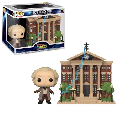 PRE-ORDER - POP! Town: 15 Back to the Future, Doc w/Clock Tower