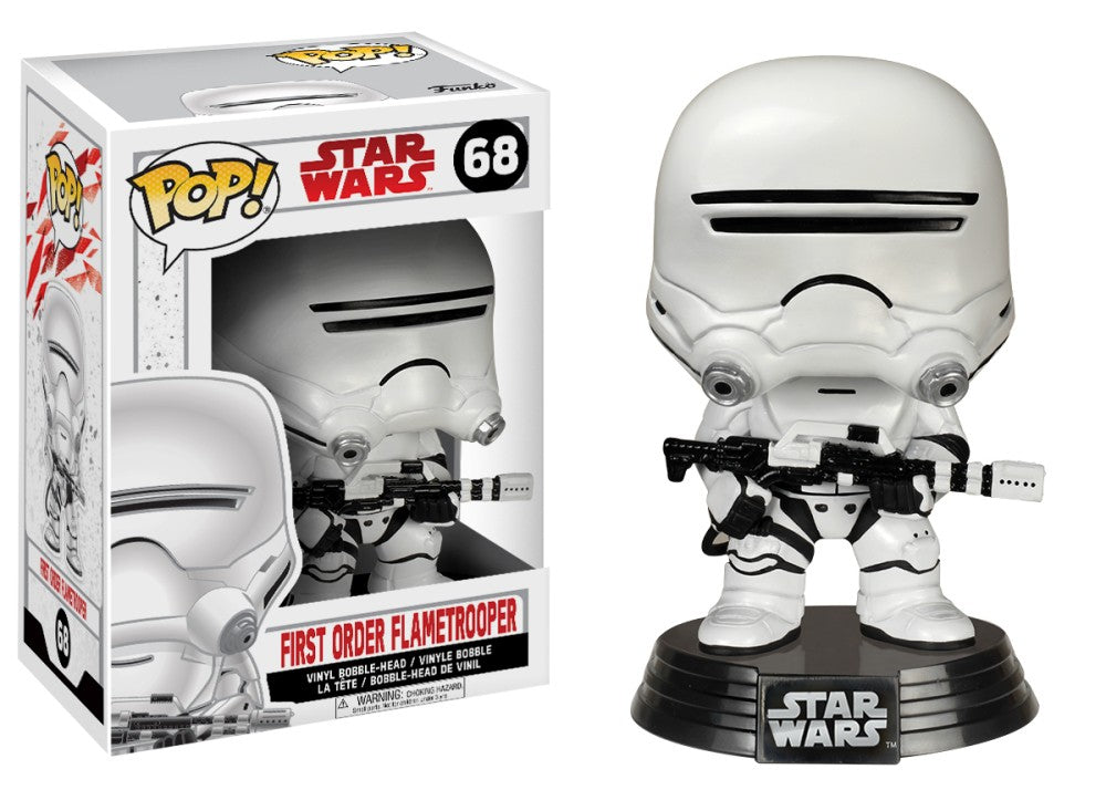 POP! Star Wars: 68 First Order Flametrooper (White Box)