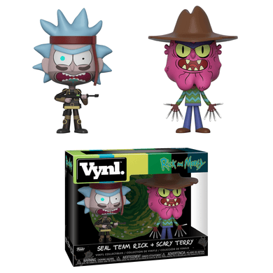 Vynl: Rick and Morty, Seal Team Rick + Scary Terry (2-Pack)