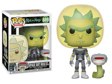POP! Animation: 689 Rick and Morty, Space Suit Rick w/Snake