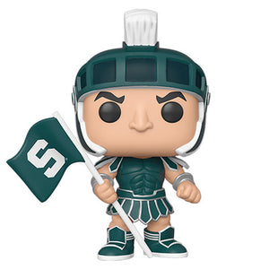 PRE-ORDER - POP! College: Michigan State, Sparty (Home Greek Armor)