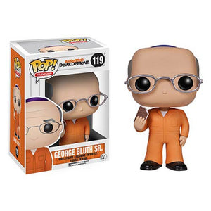 POP! TV: 119 Arrested Development, George Bluth Sr. *Damage* Sticker label 5/10