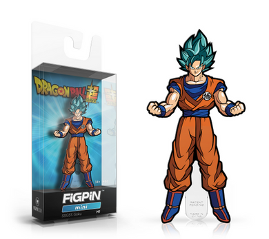 PRE-ORDER - FiGPiN: Dragon Ball Super, Super Saiyan God SS Goku #m1 2