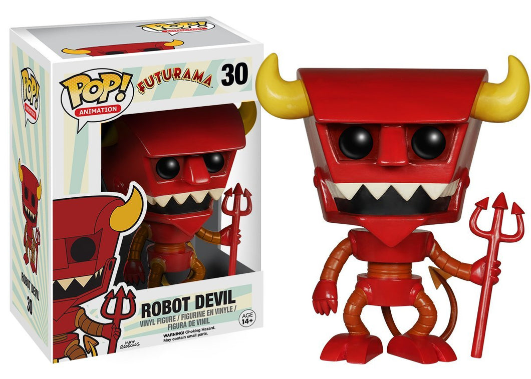 POP! Animation: 030 Futurama, Robot Devil *Damaged* 8/10