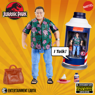 Mattel: Jurassic Park, Dennis Nedry Action Figure (Barbasol) (2020 SDCC) EE Exclusive