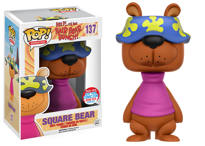 POP! Animation: 137 Help! It's the Hair Bear Bunch, Square Bear NYCC 2016 *Damaged* 8/10