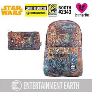 Loungefly: Star Wars Jabba's Palace Print Nylon Backpack and Pencil Case Set, EE Exc