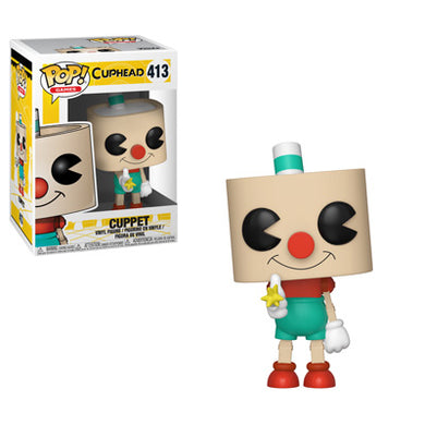 PRE-ORDER - 11/12 POP! Games: 413 Cuphead, Cuppet