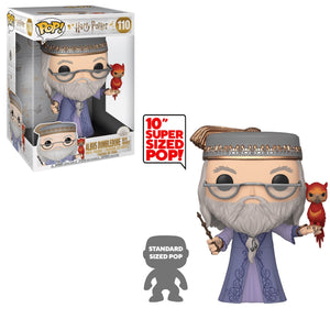 "PRE-ORDER - POP! Harry Potter: 110 Dumbledore w/Fawkes (10"")"