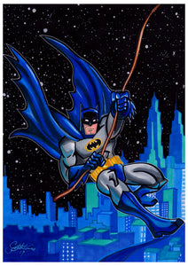 Scoots Art: Batman Swinging 11x17 Print