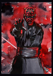 Scoots Art: Darth Maul 11x17 Print