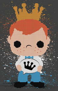 Dot-Art: Freddy Funko (11x17) Print