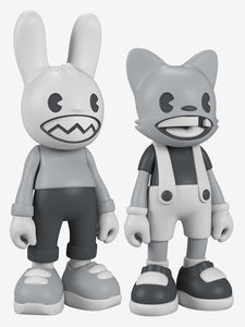 "SuperPlastic: ""Lil' Helpers (B&W) (2-Pack) (14-Inch)"