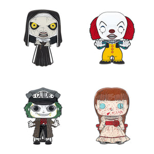 "PRE-ORDER - POP! Pins: Horror (4"" Enamel) (Bundle of 4)"