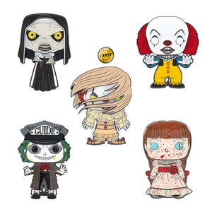 "PRE-ORDER - POP! Pins: Horror (4"" Enamel) (w/Chase) (Bundle of 5)"