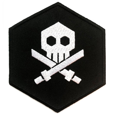 Quiccs: Bulletpunk, Skull Iron-On Patch (3-Inch) (Black)