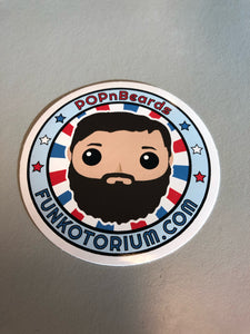 POPnBeards OG Sticker 3""