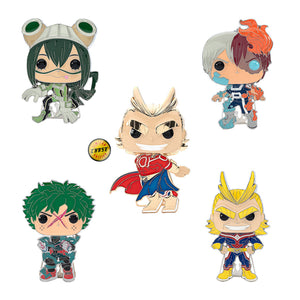 "PRE-ORDER - POP! Pins: MHA (4"" Enamel) (w/Chase) (Bundle of 5)"