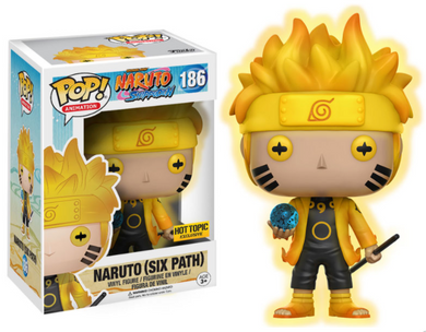 POP! Animation: 186 Naruto Shippuden, Naruto Uzumaki (Six Path) (GITD) Hot Topic Exclusive