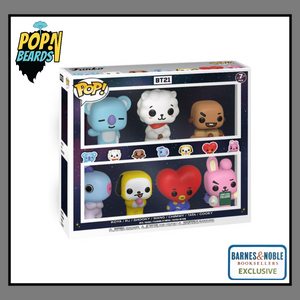 POP! Animation: BT21, Koya, RJ, Shooky, Mang, Chimmy, Tata, Cooky (7-Pack) (Barnes & Noble) Exclusive