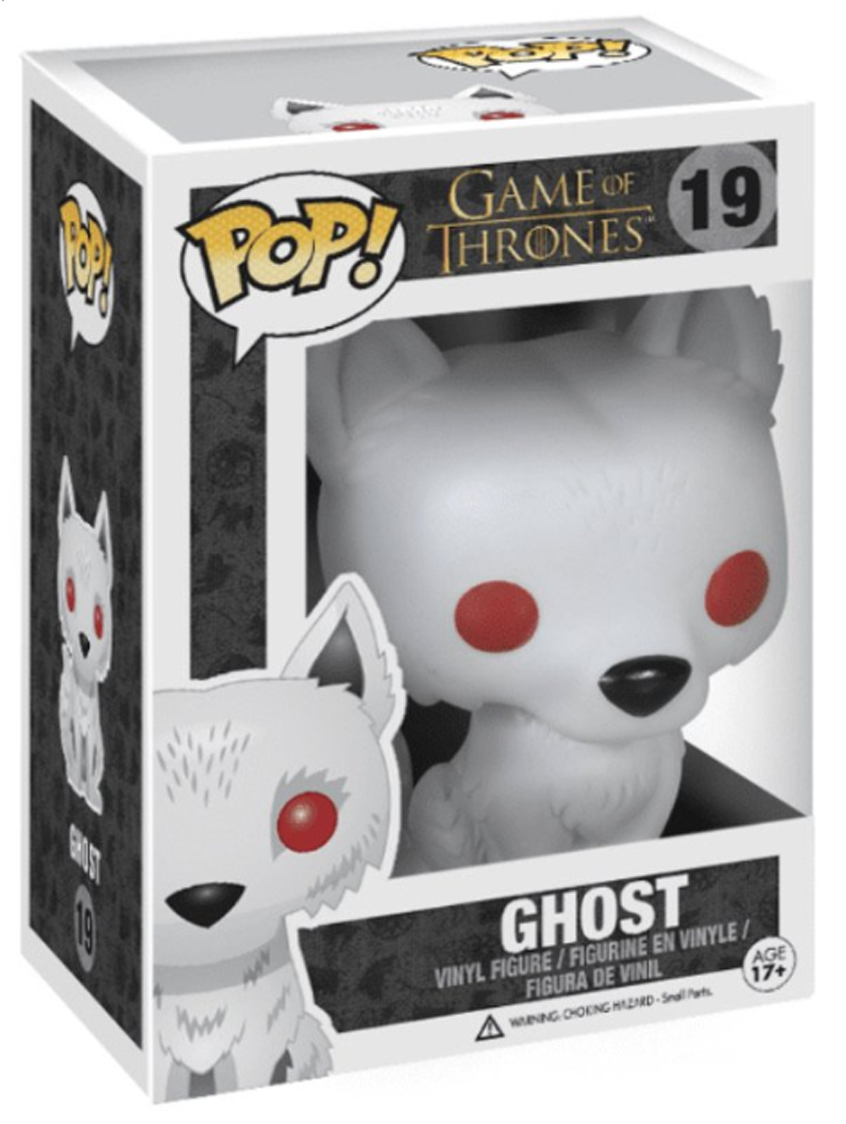 POP! Game of Thrones: 19 Game of Thrones, Ghost (Red Eyes)