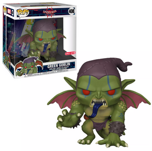 "POP! Spider-Man: 408 Into The Spider-Verse, Green Goblin (10"") Target Exclusive"