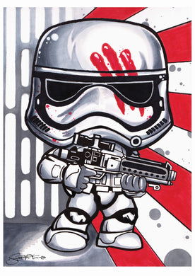 Scoots Art: First Order Stormtrooper 11x17 Print