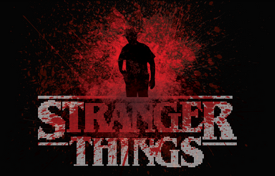 Dot-Art: Stranger Things 11x17 Print