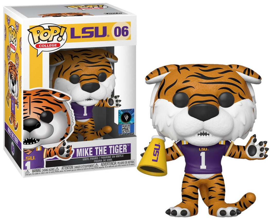 POP! College: 06 LSU, Mike the Tiger w/Purple Home Jersey