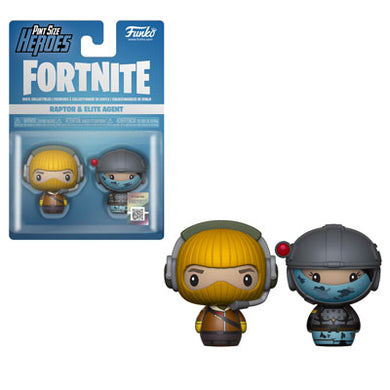 PRE-ORDER - Pint Sized Heroes: 2 pack Fortnite, Raptor/ Elite Agent