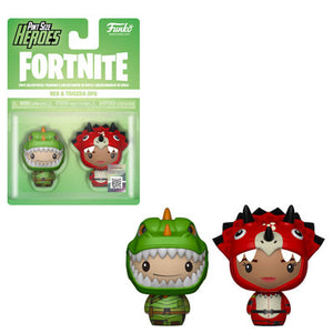 PRE-ORDER - Pint Sized Heroes: 2 pack Fortnite, Rex/ Tricera Ops