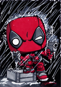 Scoots Art: Deadpool 11x17 Print